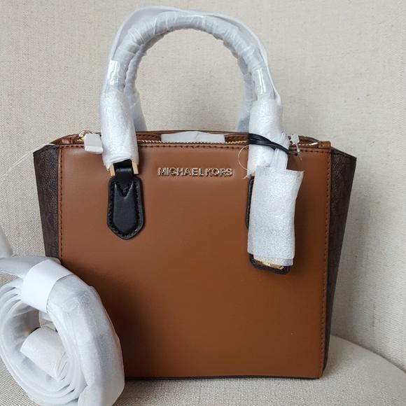 d077ef56a660 NWT Michael Kors Small Carolyn Tote bag Brown MK